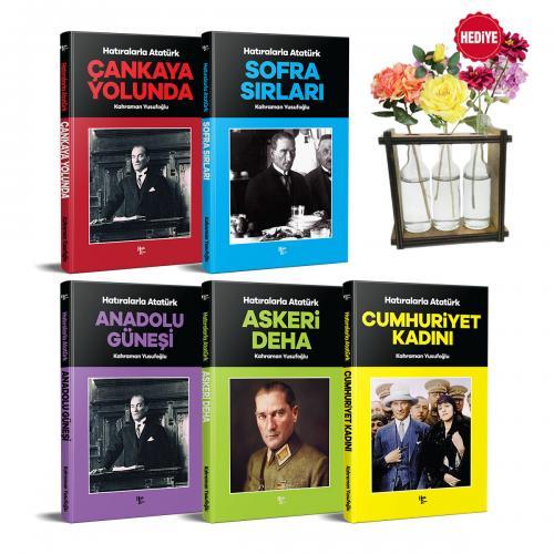 Hatıralarla Atatürk Seti - 5 Kitap ve Cam Şişe Saksı