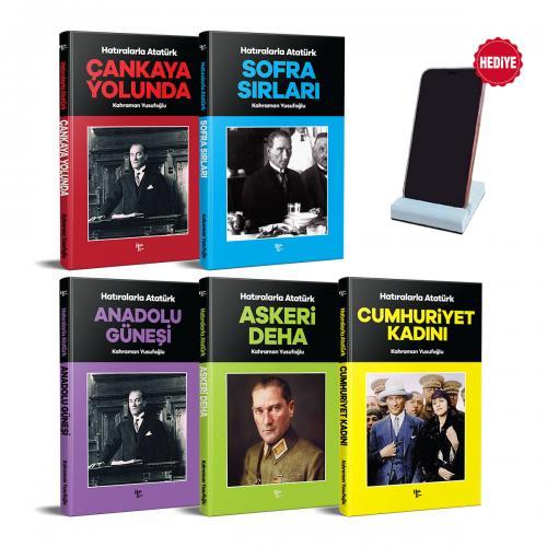 Hatıralarla Atatürk Seti - 5 Kitap ve Beton Telefon Standı