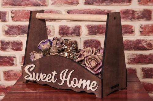 HK Mutfak Sweet Home Ahşap Tutacaklı Kasa