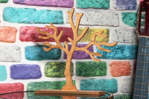 Lora Ahşap Ağaç Askılık