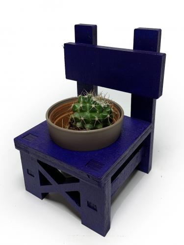 Lora Sandalye Çiçeklik - Lacivert