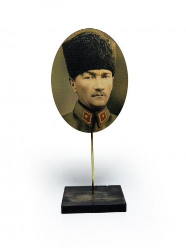 Ahşap Ayaklı Atatürk Tablo Set 2 - -Halkkitabevi