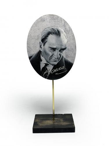 Ahşap Ayaklı Atatürk Tablo Set 4