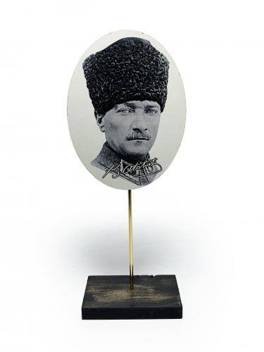 Ahşap Ayaklı Atatürk Tablo Set 5
