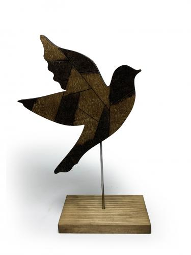 Dekoratif Ahşap Güvercin Figürü
