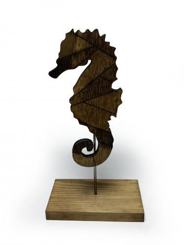 Dekoratif Ahşap Denizatı Figürü