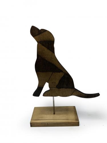 Dekoratif Ahşap Köpek Figürü