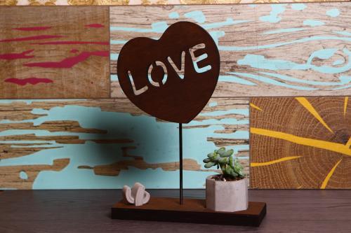HK Dekor Love Standlı Beton Saksı %37 indirimli