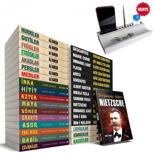 İnsanlığa Yön Verenler Seti - 34 Kitap ve Beton Telefon Standı