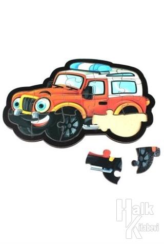 Jeep Ahşap Puzzle 17 Parça