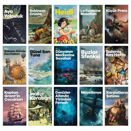 Çok Sevilen Çocuk Romanları Seti - 15 Kitap