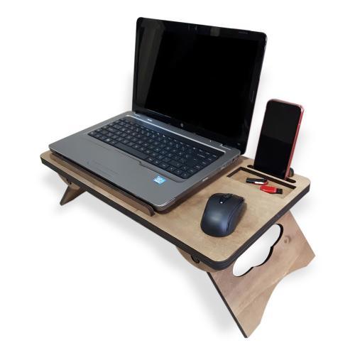 Katlanabilir Ahşap Dizüstü Bilgisayar Masası
