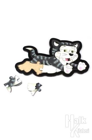 Kedi Ahşap Puzzle 15 Parça