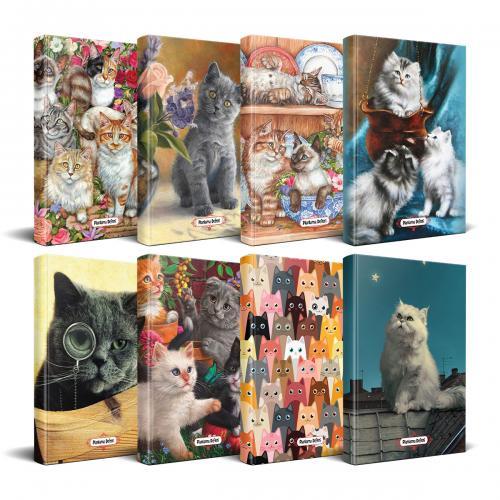 Kedi Temalı Süresiz Planlama Defter Seti - 8 Defter