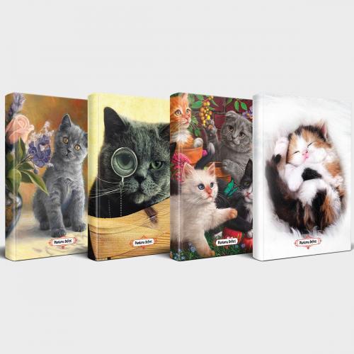 Sevimli Kediler 4'lü Planlama Defteri Seti
