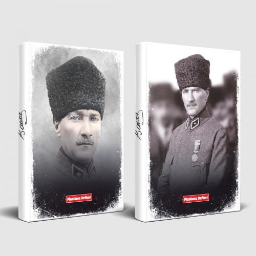 Tarihsiz Atatürk Defter Komutan ve Madalya - -Halkkitabevi