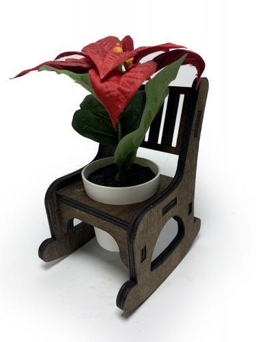 Lora Beton Saksılı Sallanan Sandalyeli Çiçeklik