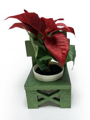 Lora Sandalye Çimen Yeşili Çiçeklik