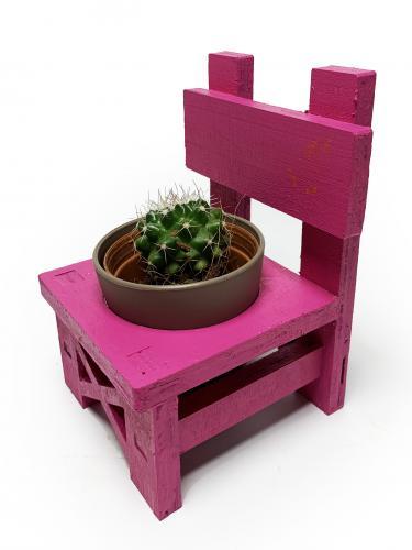 Lora Sandalye Fuşya Çiçeklik
