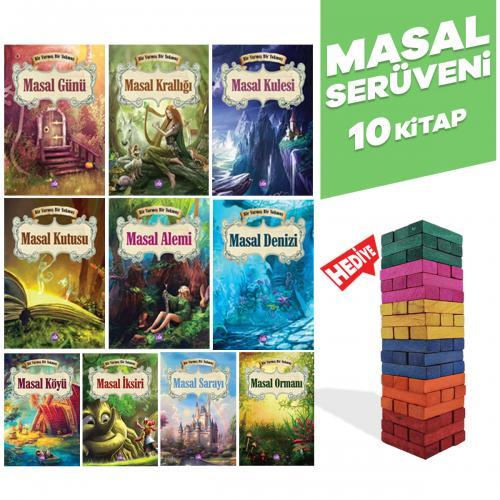 Masal Serüveni - 10 Kitap ve Renkli Denge Oyunu Seti