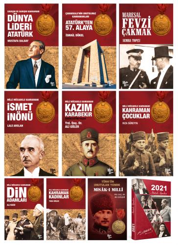 Milli Mücadele Kahramanları 9 Kitap 1 Ajanda - Ali Kuzu -Halkkitabevi