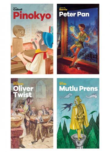 Modern Çocuk Klasikleri Seti - 4 Kitap - Aesop -Halkkitabevi