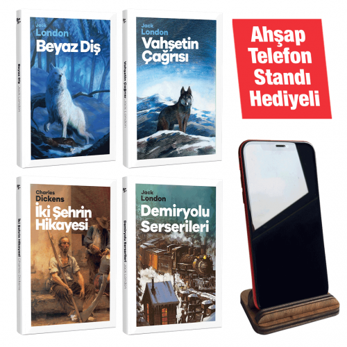 Modern Klasikler -4 Kitap -Ahşap Telefon Standı Hediyeli