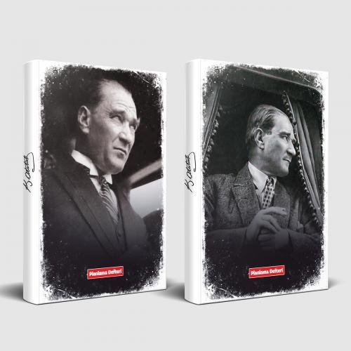 Tarihsiz Atatürk Defter Portre ve Mustafa Kemal - -Halkkitabevi