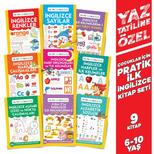 Yaz'a Özel Pratik İlk İngilizce Seti- 9 Kitap