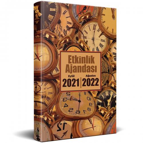 2021 Eylül 2022 Ağustos Etkinlik Ajandası - Saat Desenli