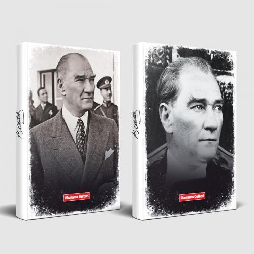 Tarihsiz Atatürk Defter Sivil ve Ulu Önder - -Halkkitabevi