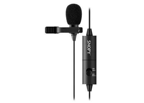 Snopy SN-100M Siyah Akıllı Telefon ve Youtuber Yaka Mikrofonu