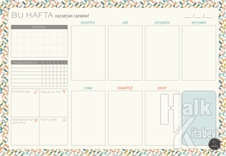 Süresiz Haftalık Planlayıcı - Geometrik Desenli (Model 1)