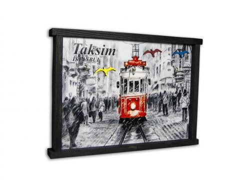 Taksim Temalı Tablo Anahtarlık HK972 - -Halkkitabevi