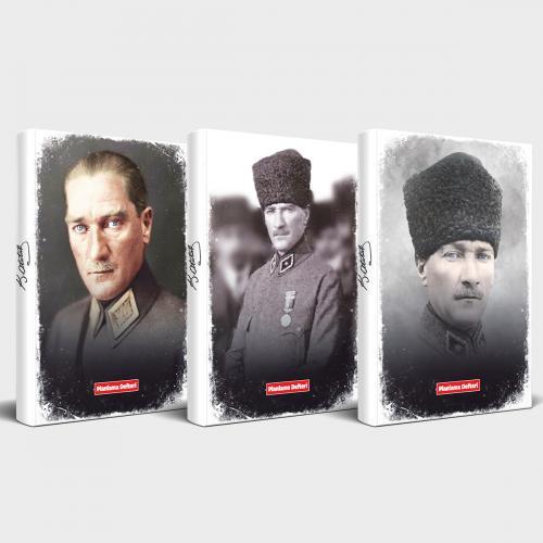 Tarihsiz Atatürk Defter 3'lü Set v1 - -Halkkitabevi