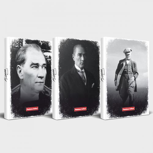 Tarihsiz Atatürk Defter 3'lü Set v3
