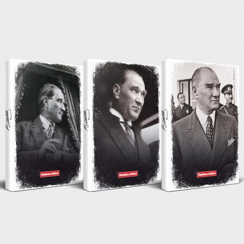 Tarihsiz Atatürk Defter 3'lü Set v4 - -Halkkitabevi