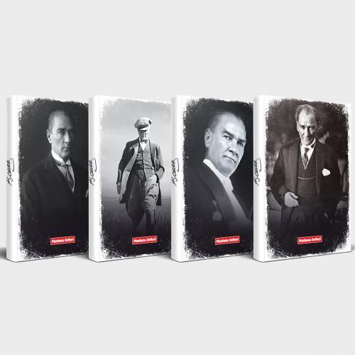 Tarihsiz Atatürk Defter 4'lü Set v2 - -Halkkitabevi