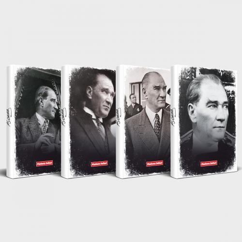 Tarihsiz Atatürk Defter 4'lü Set v3 - -Halkkitabevi