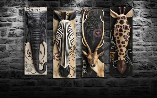 Wildlife Tablo Seti