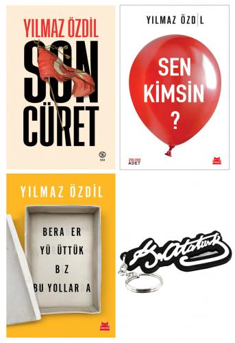 Yılmaz Özdil 3 Kitap - Ahşap Atatürk İmza Anahtarlık Hediyeli